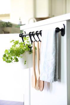 Home Organization- My Top 10 Favorite Organizing Items from IKEA, kitchen organization, craft room organization, office organization, organized, declutter, decluttering, minimalist, minimalism, FINTORP Rail System