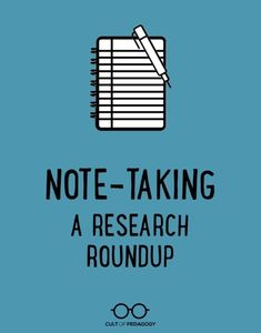 summary of 8 best practices in note-taking, straight from the research. learning A summary of 8 best practices in note-taking, straight from the research. Note Taking Strategies, Teaching Strategies, Teaching Writing, Teaching Resources, Teaching Ideas, Teaching English, Writing Lab, Writing Prompts, Research Skills