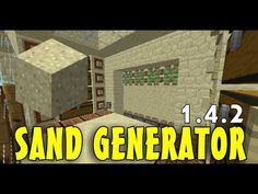Minecraft: Sand/Gravel Generator - Redstone Tutorials 1.8 - YouTube