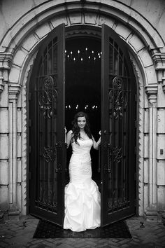 #beautiful #black and #white #bride #photography  More Wedding IDeas at www.facebook.com/villasiena