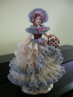 *DRESDEN VOLKSTEDT ~ Porcelain figurine, made in Thuringa, Germany, by: George Heinrich Macheleid,