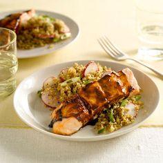 5 Spice & Hoisin-Glazed Salmon w/Quinoa, #myplate #protein #wholegrain