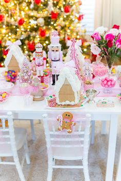 ☜ Real Christmas for a little girl. Just magical design _______________________. - Happy Christmas - Noel 2020 ideas-Happy New Year-Christmas Gingerbread Christmas Decor, Christmas Tea Party, Gingerbread House Parties, Pink Christmas Decorations, Nutcracker Christmas, Christmas Birthday, Christmas Holidays, Christmas Ideas, Gingerbread Birthday Party