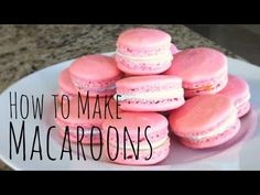 How to Make Macaroons How To Make Macaroons, Cake Pops, Food Inspiration, Goodies, Food And Drink, Party Ideas, Yummy Food, Eat, Drinks