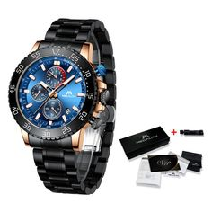 Stainless Steel Luminous Sports Watch