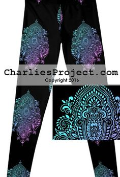 e5fba03f2585d0 Medallions - Final Sale. No Returns. - Charlies Project - Leggings for a  Cause
