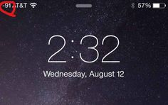 You'll then be taken back to your home screen, where instead of bars or dots, a number is displayed to indicate signal strength.