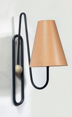Jean Royère; Enameled Metal Wall Light, c1950.