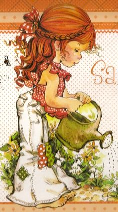 ilclanmariapia: Holly Hobbie , Sarah Kay e le bimbe Sunbonnet Sue Sarah Key, Holly Hobbie, Vintage Cards, Vintage Postcards, Sara Key Imagenes, Cute Illustration, Garden Illustration, Papier Kind, Sunbonnet Sue