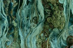 Jennifer Talbot Textiles Techniques, Art Techniques, Beach Pollution, Machine Embroidery Applique, Sewing Art, Art For Art Sake, Textile Artists, Fabric Art, Under The Sea