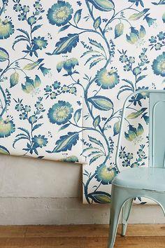 Slide View: 2: Jacobean Floral Wallpaper