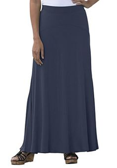 1e7eac3563b Jessica London Womens Plus Size Tall Maxi Skirt Navy1820 T     Check out the
