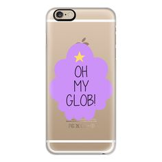 Adventure Time | Lumpy Space Princess: Oh My Glob! - iPhone 6s... ($40) ❤ liked on Polyvore featuring accessories, tech accessories, phone cases, phone, cases, iphone case, iphone cover case, clear iphone cases, slim iphone case and apple iphone cases