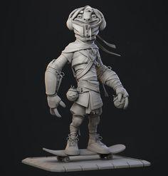 ArtStation - Nimbus, The Ninja Sloth Sculpture, Hans Kristian Andersen