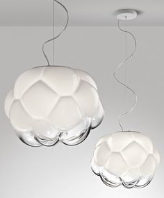 #glass pendant #lamp CLOUDY by @Fabbian | #design Mathieu Lehanneur