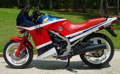 '86 Honda VF500F Interceptor, ninth bike, like this one, nice small v4    Had an '84 for a couple years as my first bike, love it