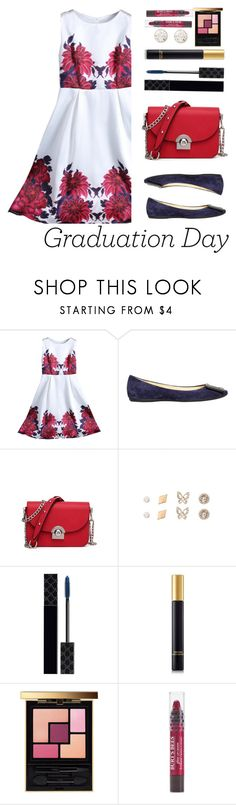 """""""Congrats, Grad: Graduation Day Style"""" by justkejti ❤ liked on Polyvore featuring Roger Vivier, Gucci, Tom Ford, Yves Saint Laurent, Burt's Bees, Graduation, floral, floraldress, under100 and zaful"""