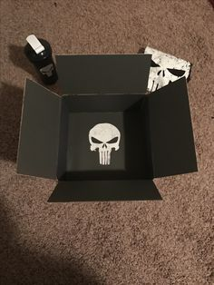 Quick care package theme. Andy needed a few things asap. Punisher care package with punisher shirt and punisher blender bottle