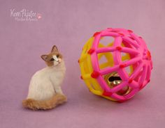 Miniature scale Cat Sculpture by Pajutee on deviantART