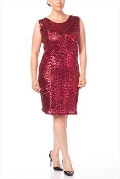 Büyük Bedende Şıklık - Büyük Beden Bordo Elbise 5845 sadece 69,99TL ile Trendyol da