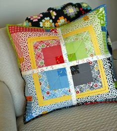 Moda Bake Shop: That's the Ticket Pillow! - how to add a binding to a pillow