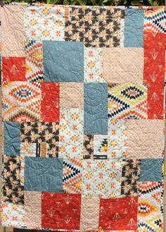 Baby or toddler handmade quilt gender neutral by WithAGrandmasLove