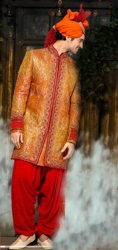 This is how you get wedding ready with with Banarasi Giccha Silk Men's Sherwani!! #weddingdress #weddingwear #menswear #mensfashion #sherwani #sherwanis #fashion #instapic #instafashion #instawedding #style #styles #NihalFashions