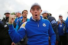 Rory McIlroy, Ryder Cup, Gleneagles. 28/9/14.