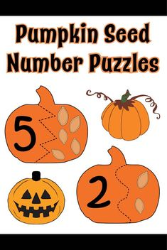 This fun pumpkin seed counting activity is great for using your leftover pumpkin seeds from your jack-o-lanterns! Pumpkin Seed Activities, Pumpkin Seed Crafts, Free Printable Worksheets, Preschool Printables, Preschool Ideas, Preschool Math, Kindergarten Classroom, Teaching Ideas, Classroom Ideas
