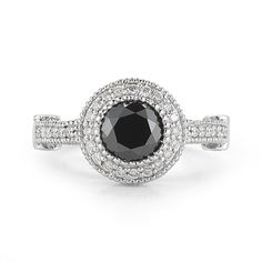 2.7 Carat Black Diamond Ring  Tiffany Style by OutrageousDiamonds, $1675.00
