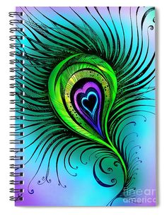 Peacock Feathers Beautiful Thoughts Blank Royal Blue Note Book Journal