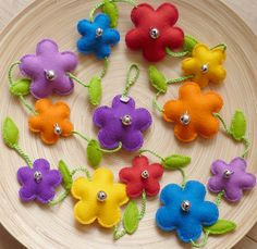 Image result for flower felt bunting