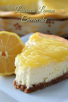 Lemon cheesecake is SO DELICIOUS! This luscious lemon cheesecake is definitely to die for and full of amazing lemony flavor! Moist, creamy and so heavenly!