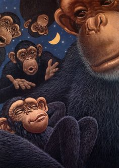 [EndLiss scans - Wildlife Art] Richard Cowdrey - Monkey Lullaby