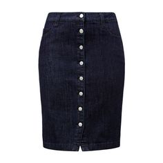 Button up Denim Skirt (3.830 RUB) ❤ liked on Polyvore featuring skirts, knee length denim skirt, button front denim skirt, button up skirt, denim skirt and blue skirt