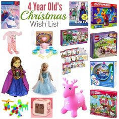 christmas wish list 4 year old girl