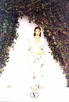 Valentino ad Photographer : Herb Ritts Model : Christy Turlington