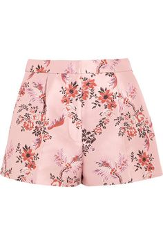 Multicolored floral-jacquard Concealed hook, button and zip fastening at front 100% polyester Dry clean Designer color: Rose Large to size. See Size & Fit notes.