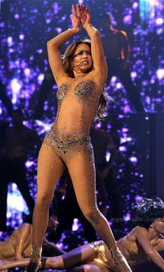 Transparent Mesh Catsuit With Glitter worn By J Lo. Buy your Catsuit for dance from DCUK Dance Clothes.