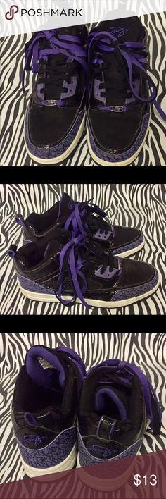 b6f114a7261e2f Purple and Black Fubu Sneakers