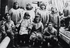 Members of an Inuit  band in northern  Canada during the  late 19th century