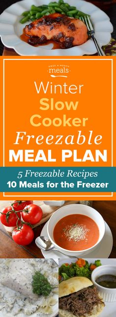Need to save time and money? This Winter Slow Cooker Mini Menu is filled with yummy freezer meal recipes that are both easy and inexpensive. via @onceamonthmeals