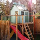 Forest Adventure Platform playhouse. One of our custom adaptations from our range at http://www.playwaysonline.co.uk/raised-playhouses-platform-playhouses-freestanding-treehouses-13-c.asp