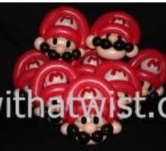 Balloon Mario Twist Bracelets. #Balloon #Mario-brothers #decor #Balloon Mario-brothers #sculptures #Balloon #Mario-brothers #characters #Balloon Mario-brothers #decorations #Balloon Mario-brothers #columns #arches