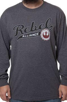 Rebel Alliance Long Sleeve Shirt: Star Wars Mens Long Sleeve Shirts