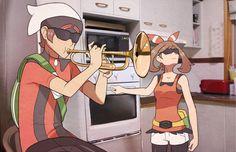 When Professor Birch isn't in the lab. Pokemon Ships, Play Pokemon, Pokemon Comics, Pokemon Memes, Pokemon Funny, Pokemon Fan Art, Pokemon Stuff, Pokemon Team, Lugia