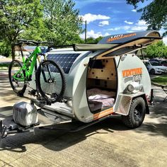 How To Choose The Best Type Of Camper - family camping site Teardrop Camping, Teardrop Camper Trailer, Kayak Trailer, Tiny Camper, Small Campers, Trailer Build, Auto Camping, Camping Gear, Camping Essentials