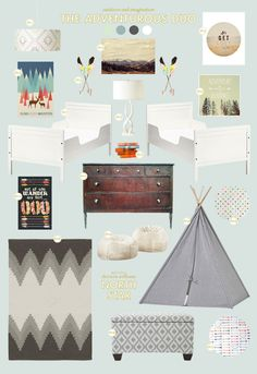 We love this room BHG Style Spotter Joni Lay put together for twin boys! See the full post: http://www.bhg.com/blogs/better-homes-and-gardens-style-blog/2012/11/07/so-happy-together-the-adventurous-duo/?socsrc=bhgpin110812adventerousduo