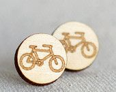 Laser Engraved Wooden Bicycle Studs - Dani Makes