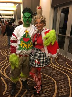 Cindy and the grinch costume holidays pinterest grinch diy grinch and cindy lou who costume the grinch cindylouwho costume halloween solutioingenieria Choice Image